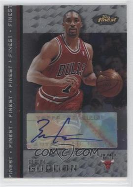 2009-10 Topps - Redemption Autograph - 2007-08 Finest #N/A - Ben Gordon
