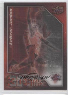 2009-10 Upper Deck - 3D Stars #3D-JJ - LeBron James, Michael Jordan