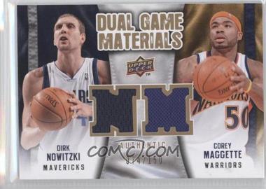 2009-10 Upper Deck - Dual Game Materials - Gold #DG-MN - Corey Maggette, Dirk Nowitzki /150