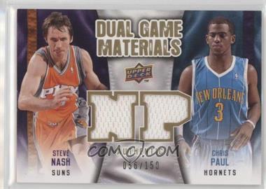 2009-10 Upper Deck - Dual Game Materials - Gold #DG-NP - Chris Paul, Steve Nash /150
