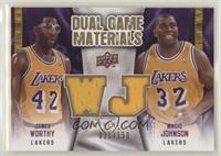 Magic Johnson, James Worthy #/150