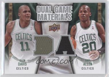 2009-10 Upper Deck - Dual Game Materials #DG-AD - Glen Davis, Ray Allen