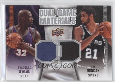 2009-10 Upper Deck - Dual Game Materials #DG-DO - Tim Duncan, Shaquille O'Neal