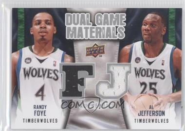 2009-10 Upper Deck - Dual Game Materials #DG-FJ - Al Jefferson, Randy Foye