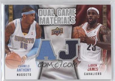 2009-10 Upper Deck - Dual Game Materials #DG-JA - Carmelo Anthony, Lebron James