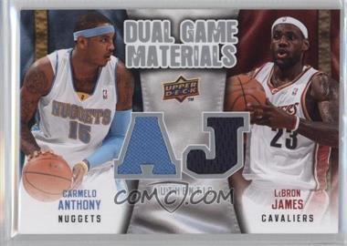 2009-10 Upper Deck - Dual Game Materials #DG-JA - Carmelo Anthony, Lebron James