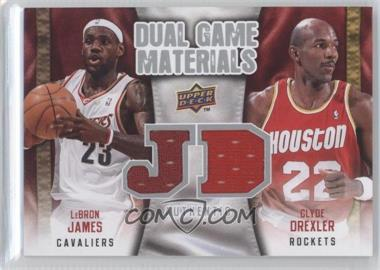 2009-10 Upper Deck - Dual Game Materials #DG-JD - Lebron James, Clyde Drexler