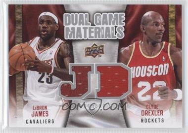 2009-10 Upper Deck - Dual Game Materials #DG-JD - Lebron James, Clyde Drexler
