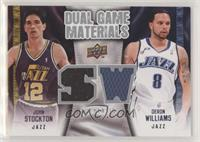 Deron Williams, John Stockton [EX to NM]
