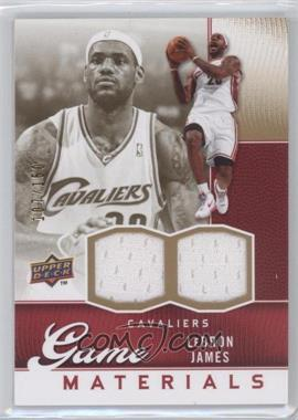 2009-10 Upper Deck - Game Materials - Gold #GJ-LJ - Lebron James /150