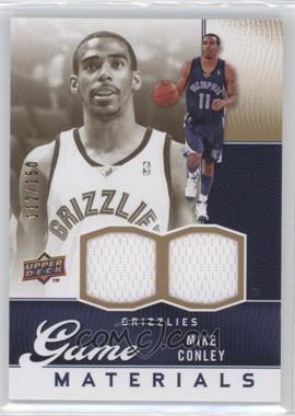 2009-10 Upper Deck - Game Materials - Gold #GJ-MC - Mike Conley /150