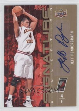 2009-10 Upper Deck - Signature Collection - [Autographed] #154 - Jeff Pendergraph