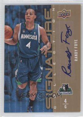 2009-10 Upper Deck - Signature Collection - [Autographed] #166 - Randy Foye