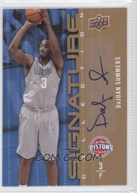 2009-10 Upper Deck - Signature Collection - [Autographed] #26 - DaJuan Summers