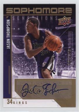 2009-10 Upper Deck - Sophomore Sensations - Autographs [Autographed] #SS-JT - Jason Thompson /199