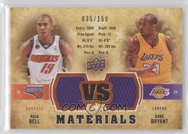 2009-10 Upper Deck - VS Dual Materials - Gold #VS-BB - Raja Bell, Kobe Bryant /150