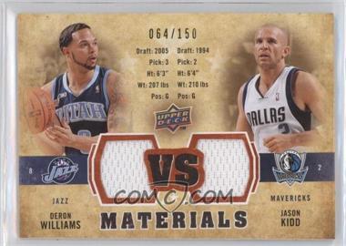 2009-10 Upper Deck - VS Dual Materials - Gold #VS-DJ - Deron Williams, Jason Kidd /150