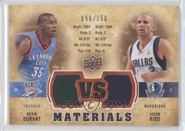 2009-10 Upper Deck - VS Dual Materials - Gold #VS-KD - Kevin Durant, Jason Kidd /150