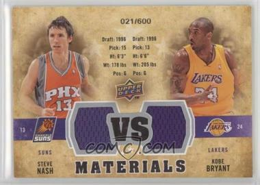 2009-10 Upper Deck - VS Dual Materials #VS-BN - Steve Nash, Kobe Bryant /600