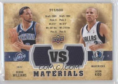 2009-10 Upper Deck - VS Dual Materials #VS-DJ - Deron Williams, Jason Kidd /600