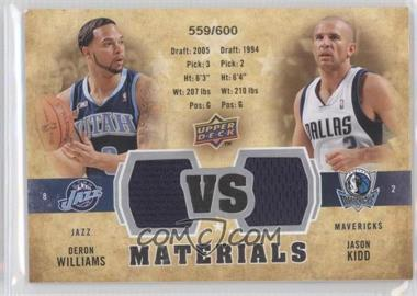 2009-10 Upper Deck - VS Dual Materials #VS-DJ - Deron Williams, Jason Kidd /600