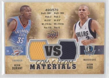 2009-10 Upper Deck - VS Dual Materials #VS-KD - Kevin Durant, Jason Kidd /570
