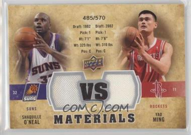 2009-10 Upper Deck - VS Dual Materials #VS-MO - Shaquille O'Neal, Yao Ming /570