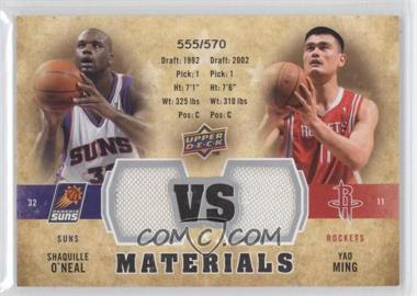 2009-10 Upper Deck - VS Dual Materials #VS-MO - Shaquille O'Neal, Yao Ming /570