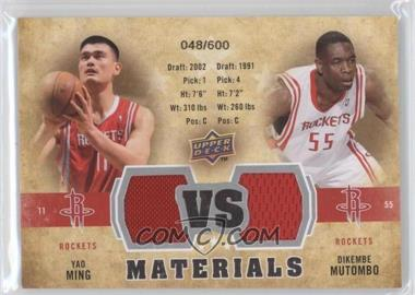 2009-10 Upper Deck - VS Dual Materials #VS-YD - Dikembe Mutombo, Yao Ming /600