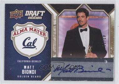 2009-10 Upper Deck Draft Edition - Alma Mater - Autographs #AM-BI - Matt Biondi /99