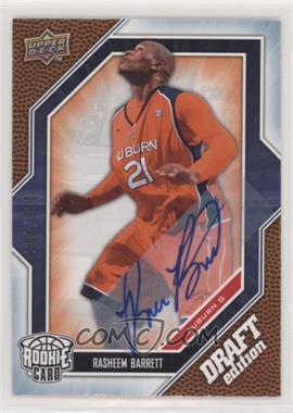 2009-10 Upper Deck Draft Edition - [Base] - Autograph Blue #35 - Rasheem Barrett /499