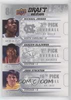 Michael Jordan, John Stockton, Hakeem Olajuwon