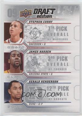 2009-10 Upper Deck Draft Edition - Draft Class #D-CHH - Stephen Curry, Gerald Henderson, James Harden