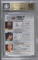 Ricky Rubio, Stephen Curry, James Harden [BGS 9.5]