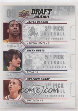 2009-10 Upper Deck Draft Edition - Draft Class #D-HRC - Ricky Rubio, Stephen Curry, James Harden