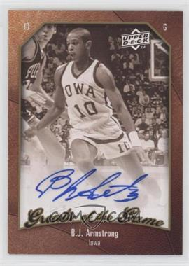 2009-10 Upper Deck Greats of the Game - [Base] - Autographs #8 - B.J. Armstrong