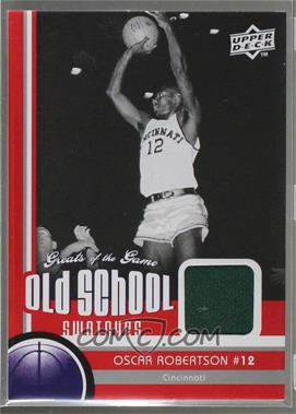 2009-10 Upper Deck Greats of the Game - Old School Swatches #OS-33 - Oscar Robertson