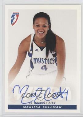 2009 Rittenhouse WNBA - Rookies Autographs #N/A - Marissa Coleman