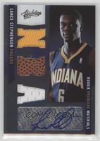 Rookie Premiere Materials NBA Signatures - Lance Stephenson /499