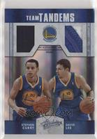 Stephen Curry, David Lee [EX to NM] #/10