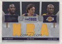 Kobe Bryant, Pau Gasol, Lamar Odom #/100