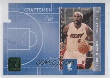 2010-11 Donruss - Craftsmen - Emerald Die-Cut #3 - Lebron James
