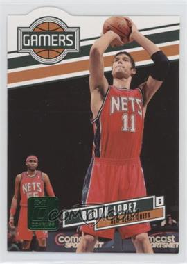 2010-11 Donruss - Gamers - Emerald Die-Cut #6 - Brook Lopez