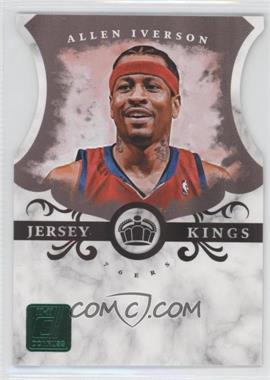 2010-11 Donruss - Jersey Kings - Emerald Die-Cut #1 - Allen Iverson