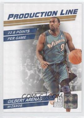 2010-11 Donruss - Production Line - Press Proof #11 - Gilbert Arenas /100