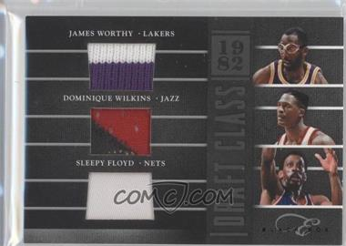 2010-11 Elite Black Box - Draft Class - Prime Memorabilia #3 - Dominique Wilkins, James Worthy, Sleepy Floyd /99