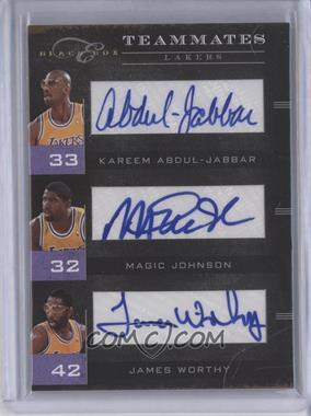 2010-11 Elite Black Box - Teammates - Signatures [Autographed] #6 - Kareem Abdul-Jabbar, James Worthy, Magic Johnson /10