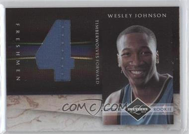2010-11 Limited - Freshman Jumbo Materials - Jersey Numbers #4 - Wesley Johnson /99