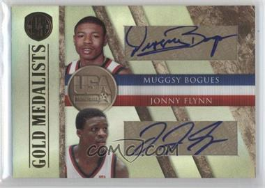 2010-11 Panini Gold Standard - Gold Medalists Dual - Signatures [Autographed] #4 - Muggsy Bogues, Jonny Flynn /50