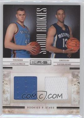 2010-11 Panini Rookies & Stars - Studio Combo Rookies - Materials [Memorabilia] #7 - Cole Aldrich, Xavier Henry /399